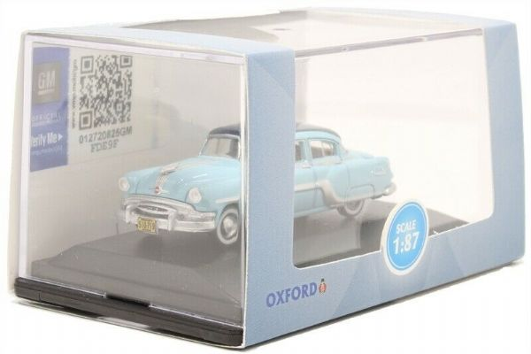 Oxford 87PC54001 Pontiac Chieftain 1954 Mayfair Blue/San Marino Blue 1:87 Scale